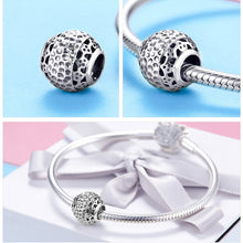 Load image into Gallery viewer, 925 Sterling Silver Double Layer Honeycomb Pandora Compatible Bead Charm