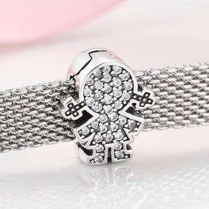 925 Sterling Silver Girl Reflexion Pandora Compatible Charm