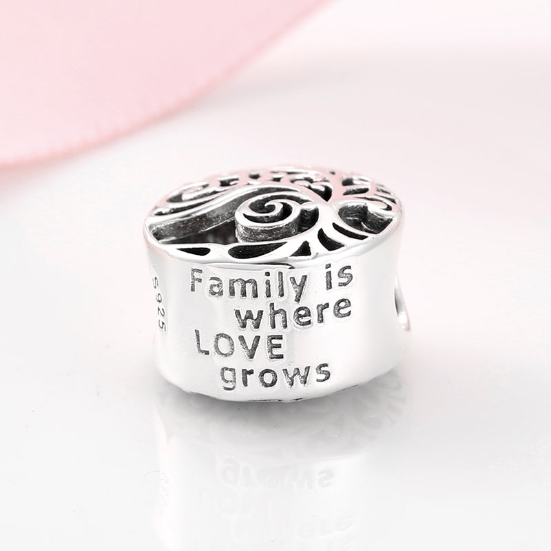 925 Sterling Silver Family Is Where Love Grows Family Tree Pandora Com Be Fabulous Jewellery