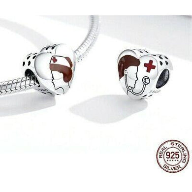 925 Sterling Silver Honour for Medical Personnel Hero Pandora Compatible Bead Charm