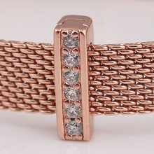 Rose Gold Plated CZ Timeless Sparkle Reflexion Pandora Compatible Charm