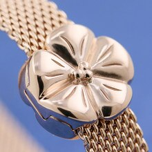 Rose Gold Plated Flower Reflexion Pandora Compatible Charm