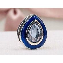 Load image into Gallery viewer, 925 Sterling Silver Blue Teardrop Reflexion Pandora Compatible Charm