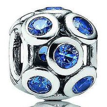 Load image into Gallery viewer, 925 Sterling Silver Blue Crystal Whimsical Lights Pandora Compatible Charm