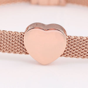 Rose Gold Plated Heart Reflexion Pandora Compatible Charm