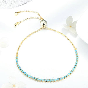 BAMOER SYNTHETIC TURQUOISE BEAUTIFUL BRACELETS GIFT FOR HER SCB118