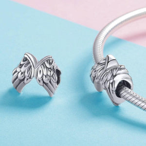 925 STERLING SILVER Guardian wings Pandora Compatible Charms