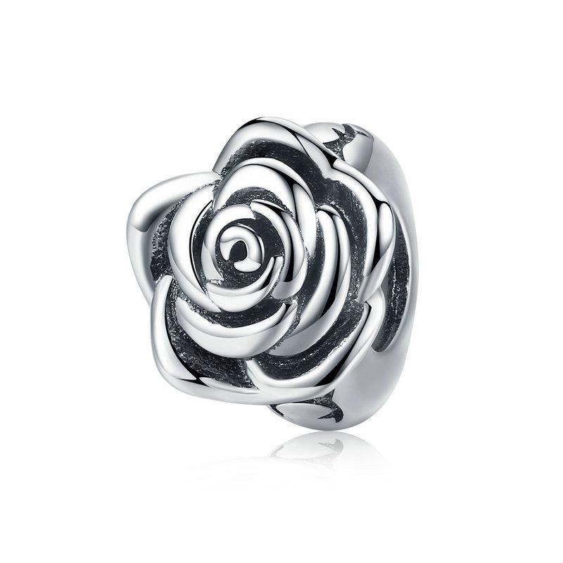 925 Sterling Silver Rose Pandora Compatible Spacer/Stopper