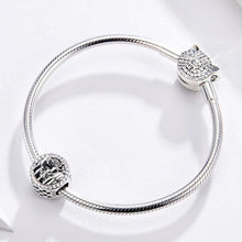Load image into Gallery viewer, 925 Sterling Silver CZ Loving Family Pandora Compatible Bead Charm