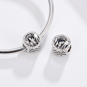 925 Sterling Silver CZ Loving Family Pandora Compatible Bead Charm