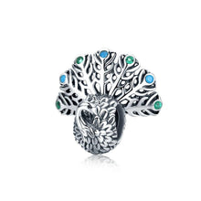 Load image into Gallery viewer, 925 Sterling Silver Peacock Pandora Compatible Bead Charm