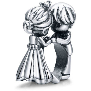 925 Sterling Silver Wedding Dance Couple Pandora Compatible Bead Charm