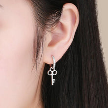 Load image into Gallery viewer, 925 STERLING SILVER ZIRCON EARRINGS
