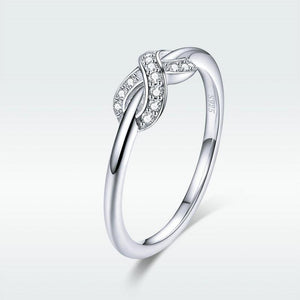 925 Sterling Silver Clear CZ Infinity Ring