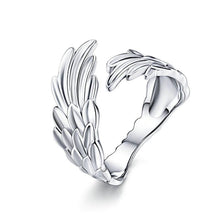 Load image into Gallery viewer, 925 Sterling Silver Guardian Angel Wings Adjustable Wrap Ring