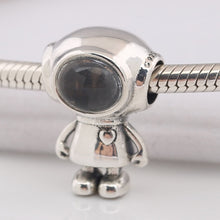 Load image into Gallery viewer, 925 Sterling Silver Tommy the Astronaut Pandora Compatible Bead Charm