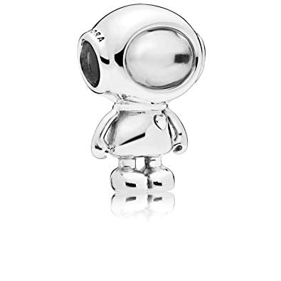 925 Sterling Silver Tommy the Astronaut Pandora Compatible Bead Charm
