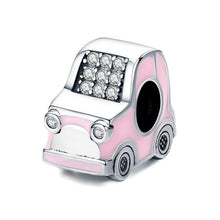 Load image into Gallery viewer, 925 Sterling Silver Super Cute Pink Car Pandora Compatible Charm
