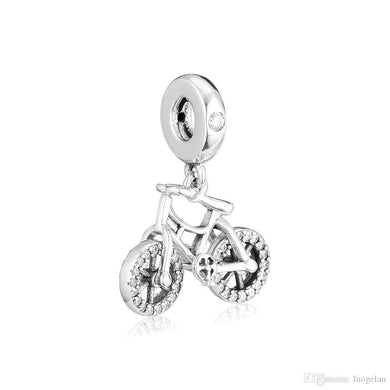 925 Sterling Silver Adorable Bike/Bicycle Pandora Compatible Dangle Charm