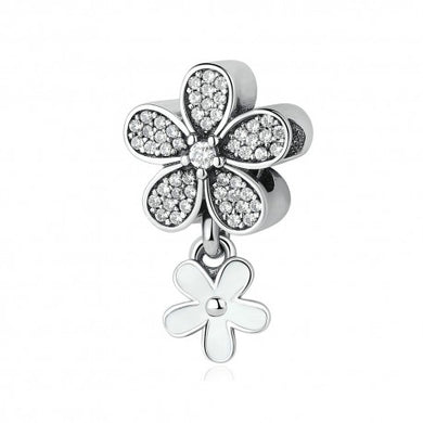 925 Sterling Silver Daisy Charm