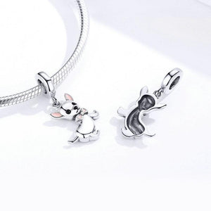 925 Sterling Silver Cute Chihuahua Dog Pandora Compatible Dangle Charm