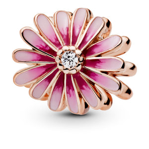 925 Sterling Silver Rose Gold Plated Daisy Pandora Compatible Bead Charm