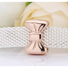 Load image into Gallery viewer, Rose Gold Plated Bow Reflexion Pandora Compatible Charm