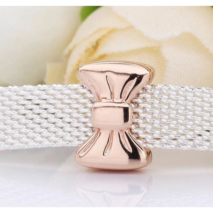 Rose Gold Plated Bow Reflexion Pandora Compatible Charm