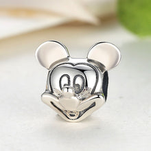 Load image into Gallery viewer, 925 Sterling Silver Mickey Mouse Head Pandora Compatible Bead Charm