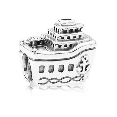 925 Sterling Silver Cruise Ship Pandora Compatible Bead Charm