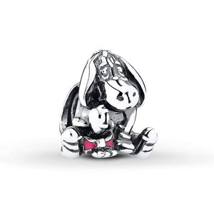 925 Sterling Silver Winnie the Pooh EEYORE Pandora Compatible Bead Charm