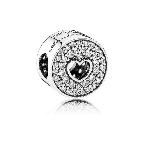 925 Sterling Silver Happy Anniversary Pandora Compatible Charm
