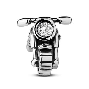 925 Sterling Silver Motorbike Pandora Compatible Bead Charm