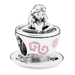 925 Sterling Silver Alice in Wonderland Tea Cup Pandora Compatible Charm