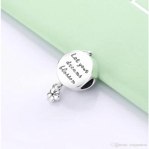 925 Sterling Silver Let your Dreams Blossom Pandora Compatible Bead Charm