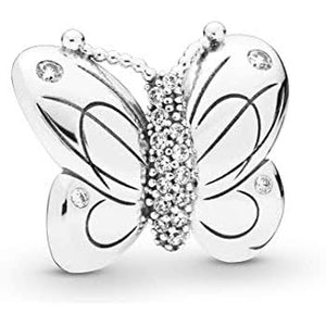 925 Sterling Silver Butterfly Pandora Compatible Charm