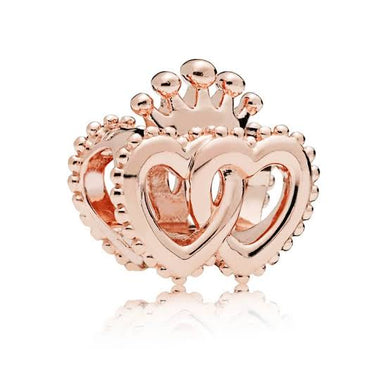 925 Sterling Silver Double Heart Pandora Compatible dangle Charm