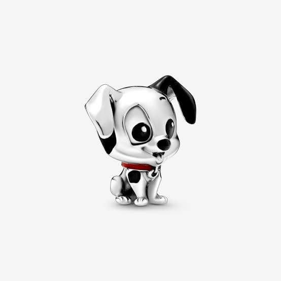 925 Sterling Silver Disney Babies Series 101 DALMATIONS PATCH Pandora Compatible Bead Charm
