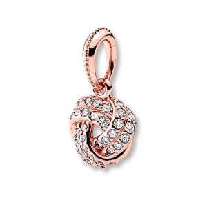 Rose Gold-Color CZ Knot Pandora Compatible Charm