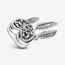 Load image into Gallery viewer, 925 Sterling Silver Openwork Heart Dream Catcher Pandora Compatible Bead Charm