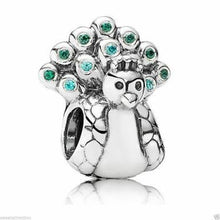 Load image into Gallery viewer, 925 Sterling Silver Peacock Pandora Compatible Charm