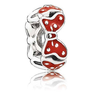 925 Sterling Silver Minnie Bow Pandora Compatible Spacer