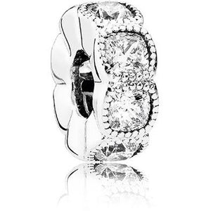 925 Sterling Silver CZ Pandora Compatible Spacer