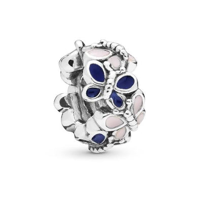 925 Sterling Silver Enamel Butterfly Pandora Compatible Spacer