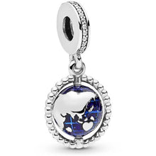 Load image into Gallery viewer, 925 Sterling Silver Spinning Globe Pandora Compatible Dangle Charm