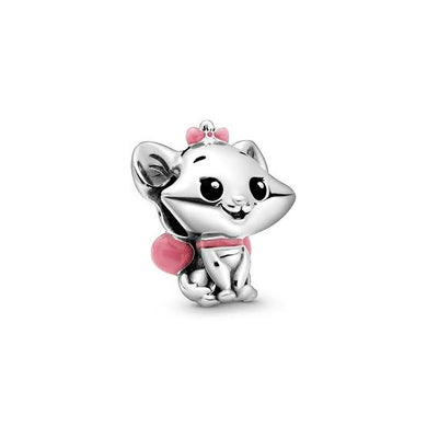 925 Sterling Silver Disney Babies Series ARISTOCATS MARIE Pandora Compatible Bead Charm
