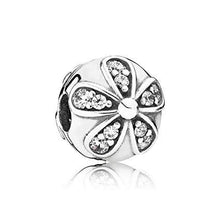 Load image into Gallery viewer, 925 Sterling Silver CZ Daisy Ball Pandora Compatible CLIP