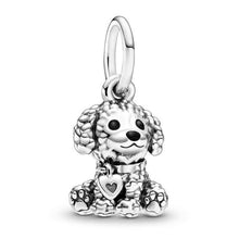 Load image into Gallery viewer, 925 Sterling Silver POODLE DOG Pandora Compatible Charm