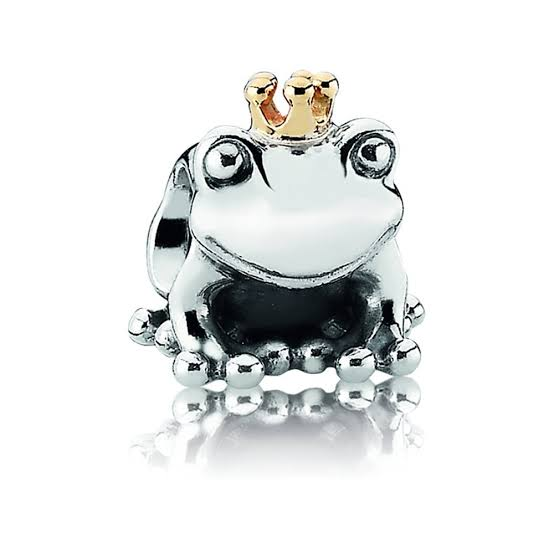 925 Sterling Silver Frog Prince Pandora Compatible Bead Charm