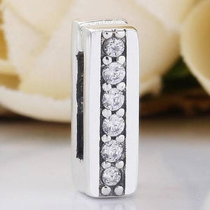 925 Sterling Silver CZ Timeless Sparkle Reflexion Pandora Compatible Charm